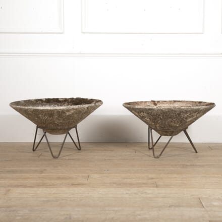 Pair of French Mid Century Conical Planters GA2815977