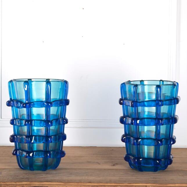 Pair of Murano Vases Signed Sergio Costantini DA2912133