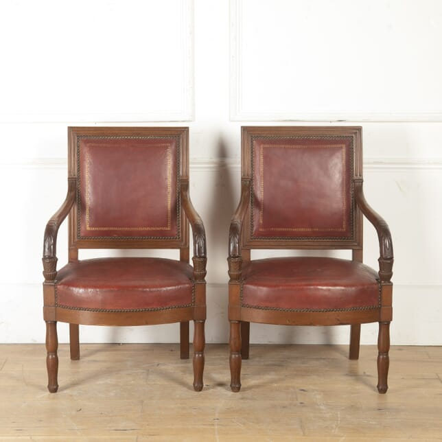 Pair of French Napoleon III Armchairs CH8016641