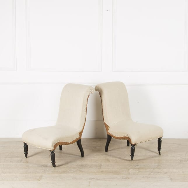 Pair of Napoleon III Slipper Chairs CH459876