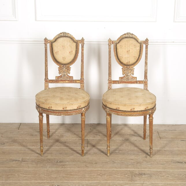 Pair of French Neoclassical Side Chairs CH1515232