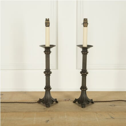 Pair of Bronze Candle Stands LT219230