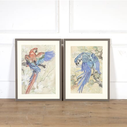 Pair of Original Watercolour Paintings by Isobel M French WD8013769