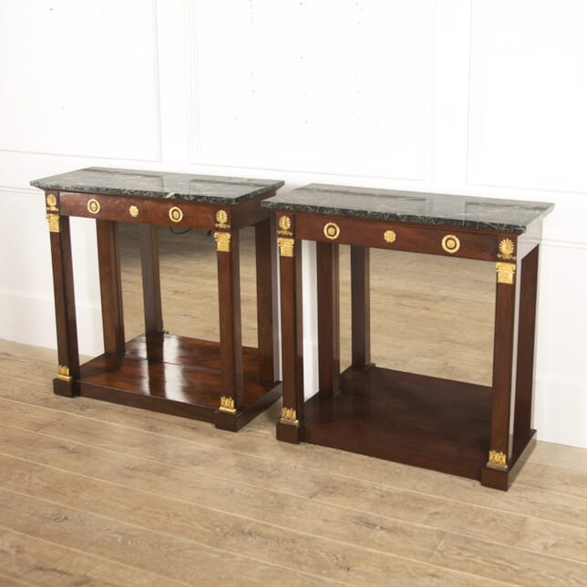 Pair of French Mahogany Console Tables CO3915800