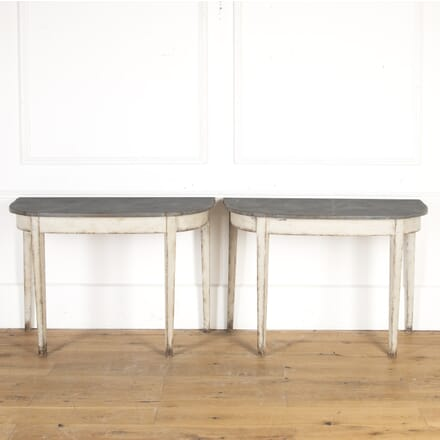 Pair of Painted Console Tables CO7913597