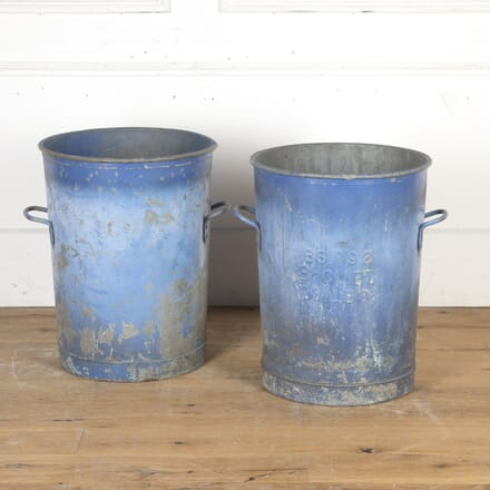 Pair of Painted Industrial Tubs GA9015461