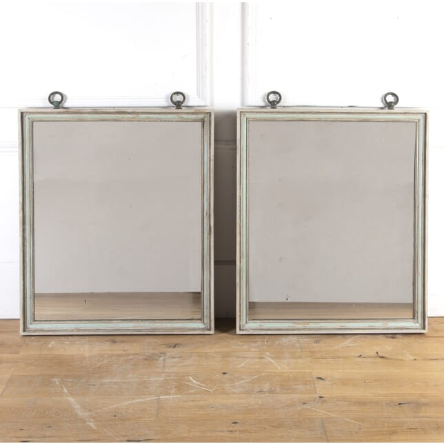 Pair of French Painted Mirrors MI3614568