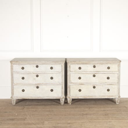Pair of Painted Swedish Chests of Drawers CC1114322