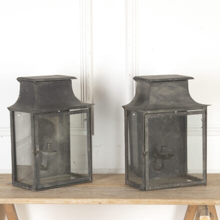 Pair of Painted Wall Lanterns LW3613746
