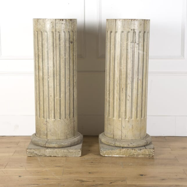 Pair of Painted Wooden Columns GA129846