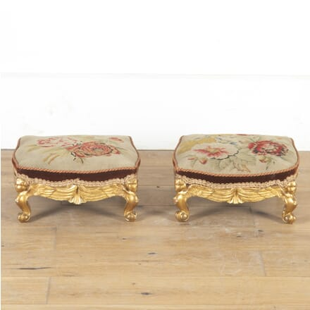 Pair of Parcel Gilt Foot Stools ST8013785