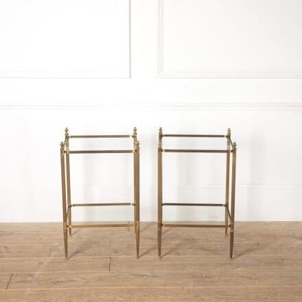Pair of Parisian Brass End Tables TS3513666