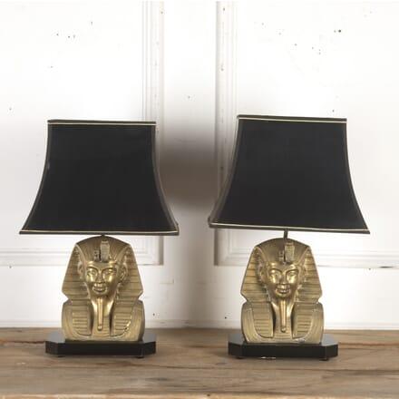 Pair of Hollywood Regency Pharaoh Lamps LT8715825