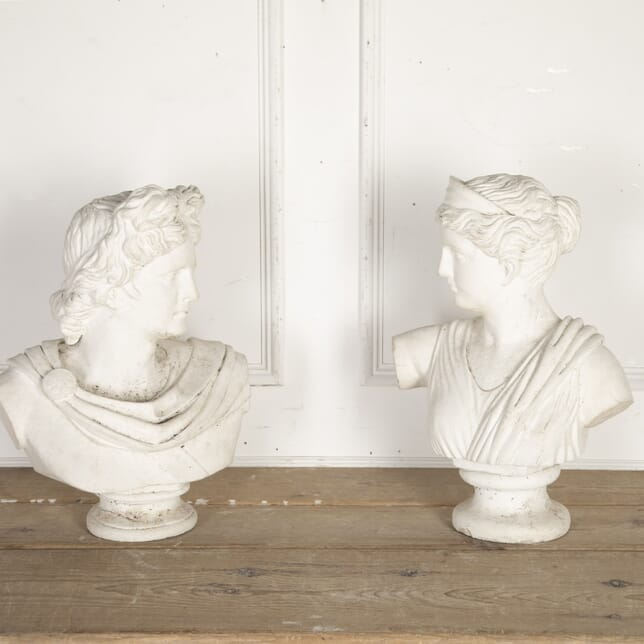 Pair of Classical Stone Busts DA8715698