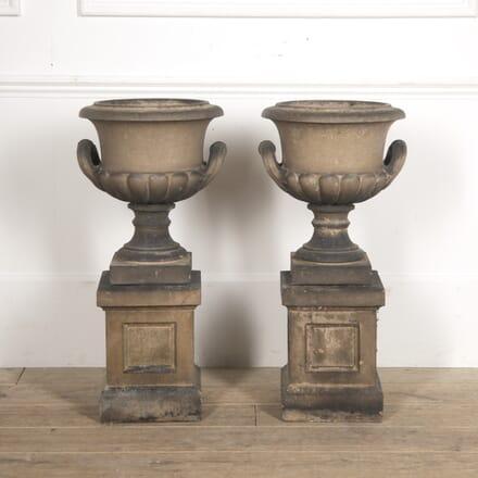 Pair of Urns on Pedestals by Pulham GA0916040