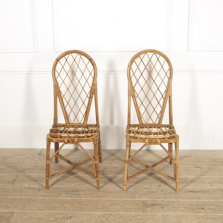 Pair of Rattan Chairs attributed to Audoux Minet CH2914840