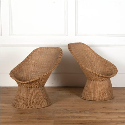 Pair of Rattan Side Chairs CH4311602