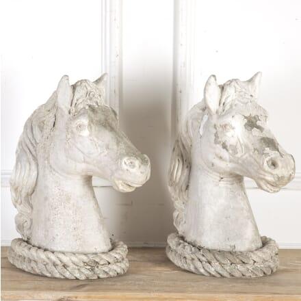 Pair of Reconstituted Stone Horses' Heads GA8014328