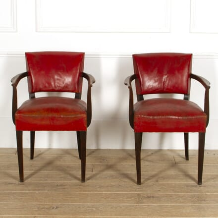 Pair of Red Leather Bridge Chars CH1517716