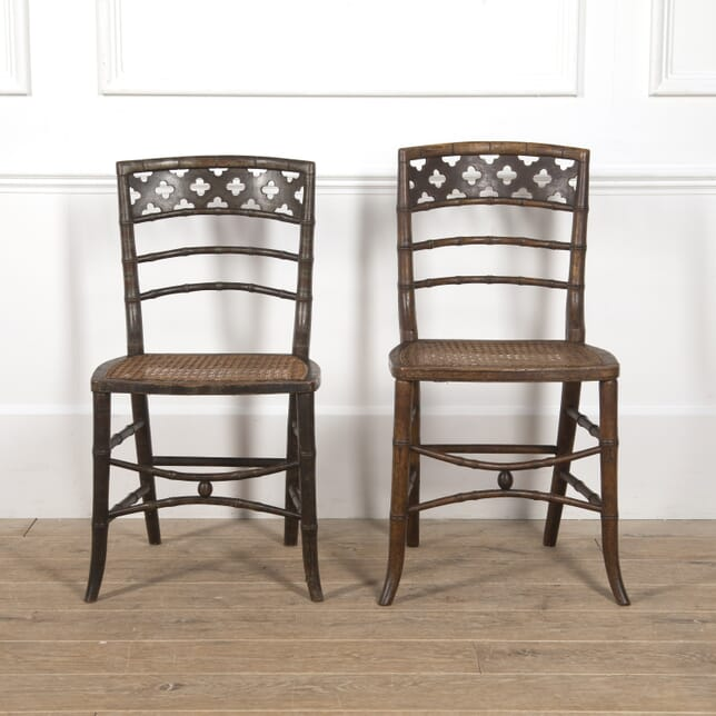 Pair of Regency Gothic Painted Chairs CH0516721