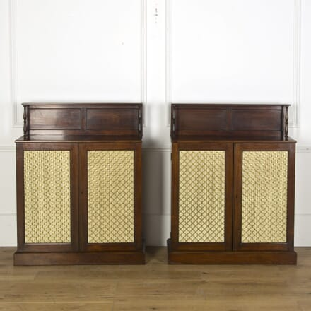 Pair of Regency Mahogany Side Cabinets BU039976