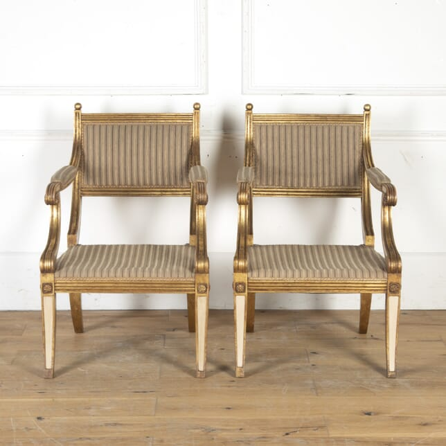 Pair of Regency Style Gilt Armchairs CH4715588