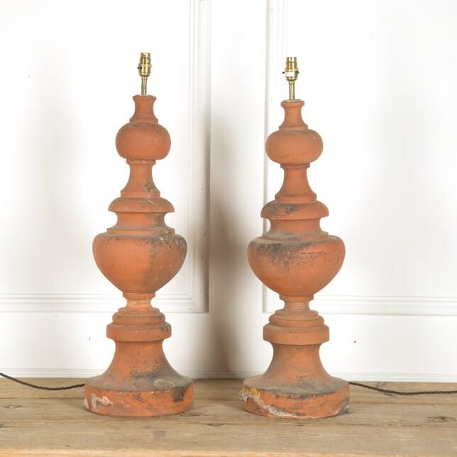 Pair of Roof Top Finials Converted to Lamps LT0153809