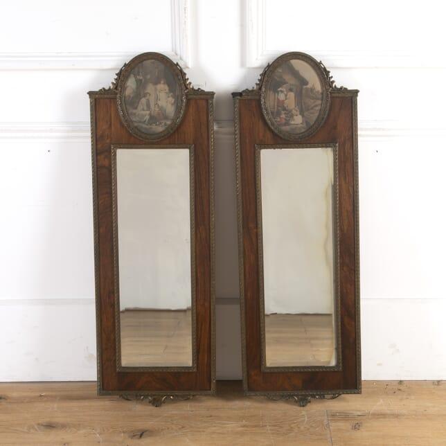 Pair of Rosewood Pier Mirrors MI7260423
