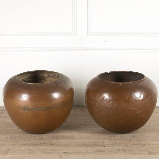 Pair of Round Copper Vats GA0860267