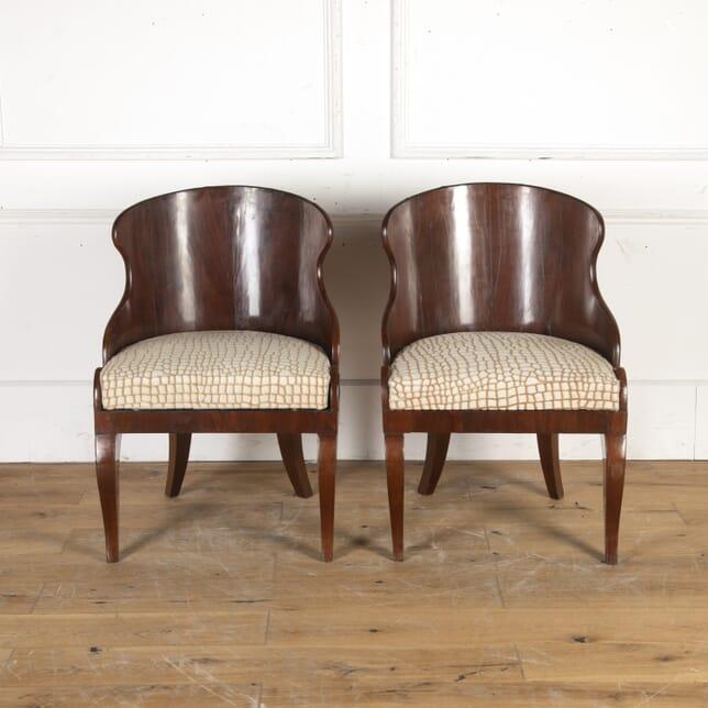 Pair of Russian Mahogany Tub Chairs CH8915772