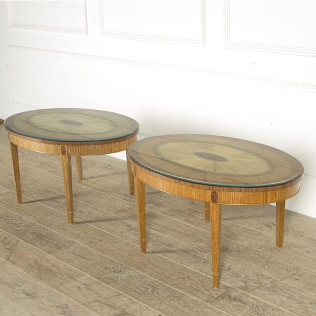 Pair of Satinwood and Tulipwood Oval Coffee Tables CO889678