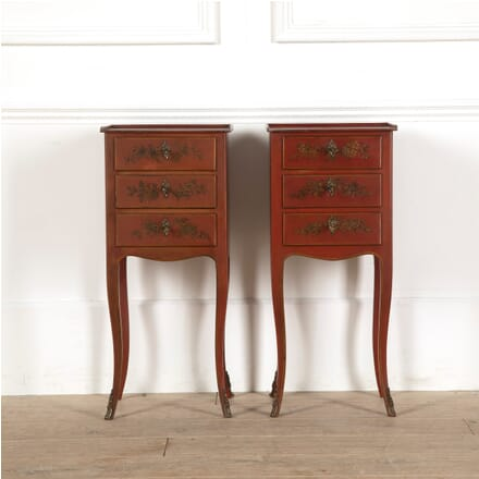 Pair of Scarlet Lacquer French Bedside Chests BD4511238