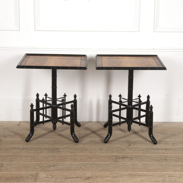 Pair of French Faux Bamboo Side Tables TC3515513