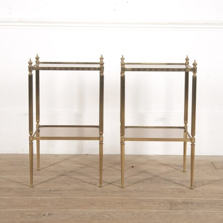 Pair of French Brass Side Tables CO3016289
