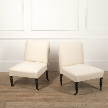 Pair of French 19th Century Slipper Chairs CH4516692