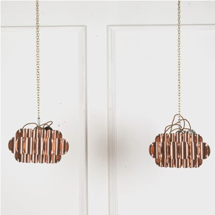 Pair of Small Copper Pendant Lights LL539593
