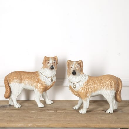 Pair Of Staffordshire Collie Dogs DA1316781