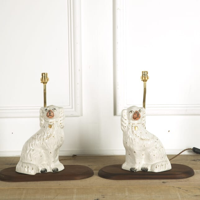 Pair of Staffordshire Dog Lamps LT139992