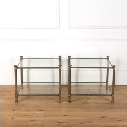 Pair of Steel and Brass Coffee Tables CT2710951