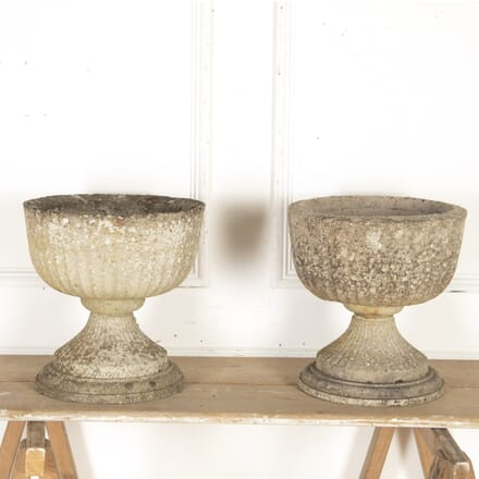 Pair of Composition Stone Urns GA2015199