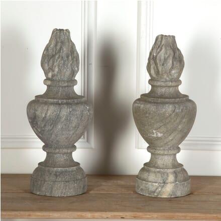 Pair of Stone Flambé Finials GA4311041