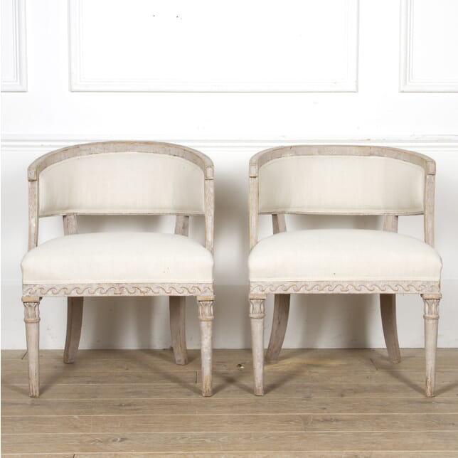 Pair of Swedish Barrel Back Chairs CH6017434