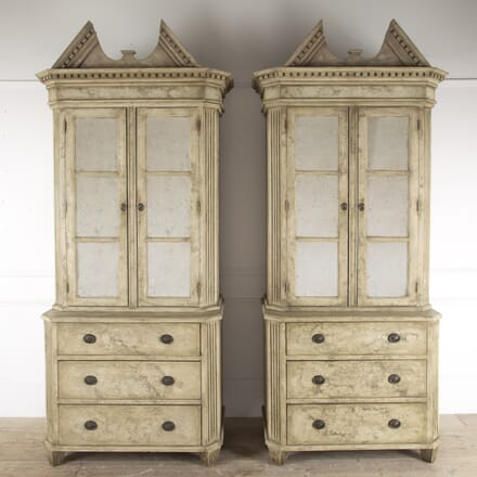 Pair of Swedish Painted Bookcases BK4312961