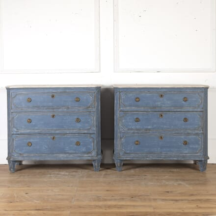 Pair of Swedish Painted Commodes CC9015470