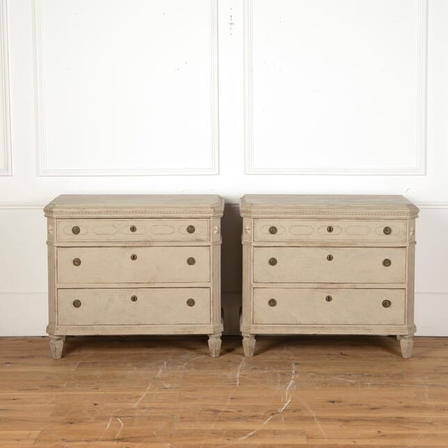 Pair of Swedish Painted Commodes BD4311221