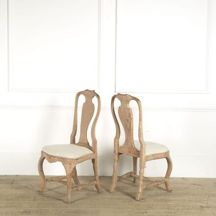 Pair of Swedish Rococo Chairs CH019212