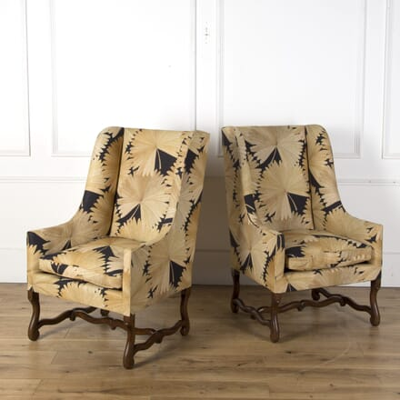 Pair of Upholstered Os-De-Mouton Chairs CH7310143