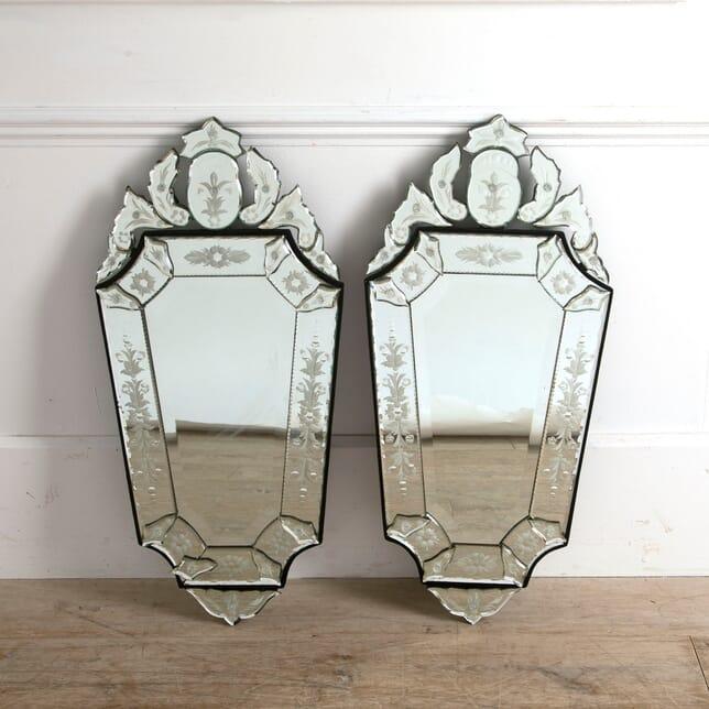 Pair of Venetian Style Wall Mirrors MI8810959