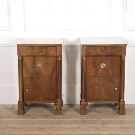 Pair of Italian Walnut Bedside Tables CC3915795