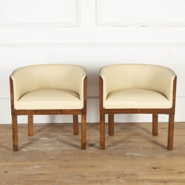 Pair of Walnut Veneered Art Deco Club Chairs CH8715340
